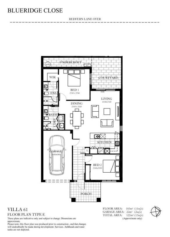 Retirement Village Villa 61 Floorplan