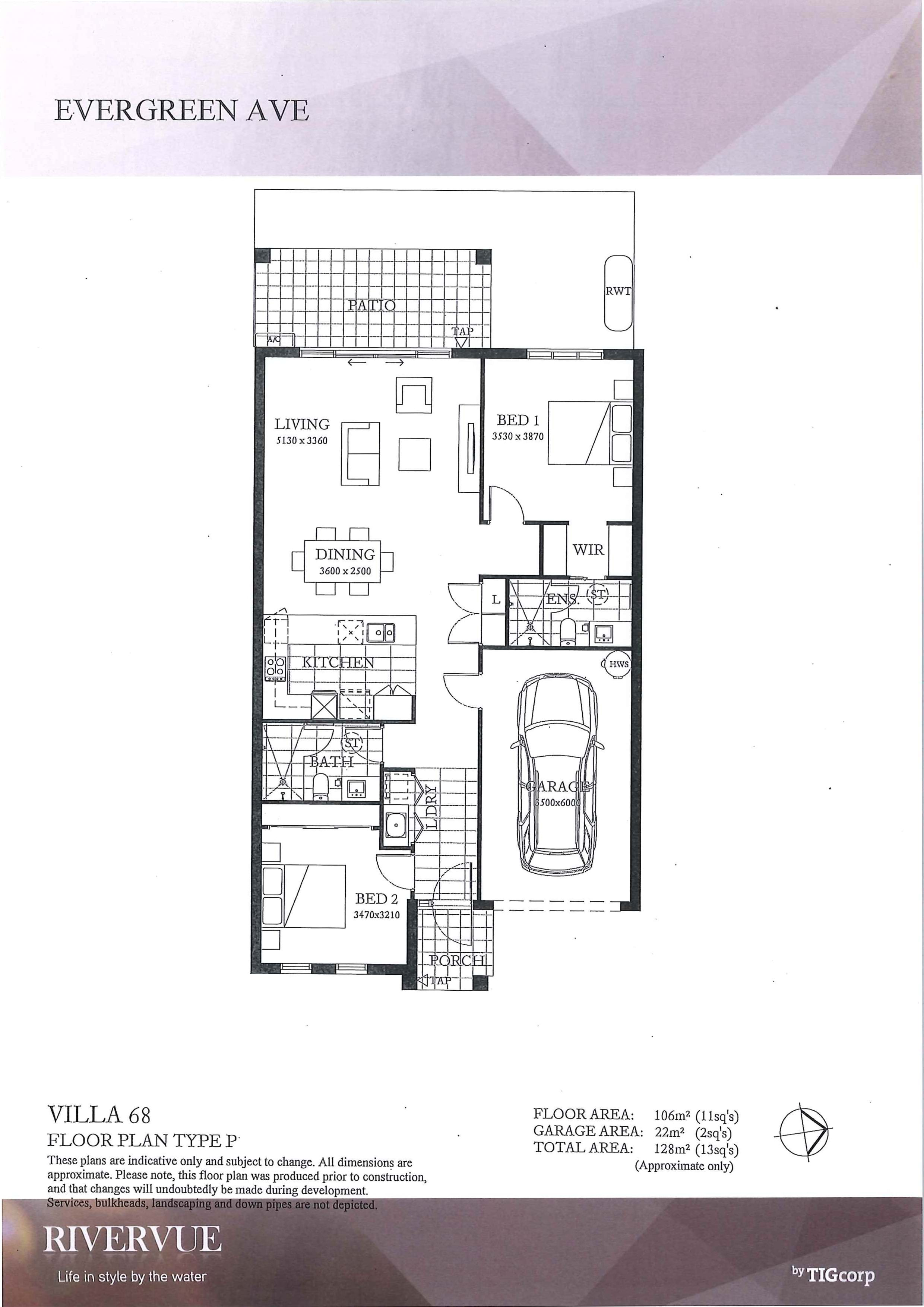 Lifestyle Retirement village Villa 68 Floorplan